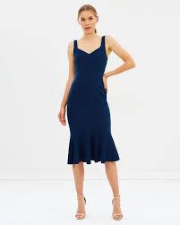 By Johnny V Flare Midi Dress