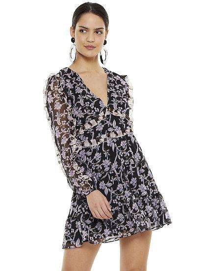 Talulah Blooming Long Sleeve Mini Dress