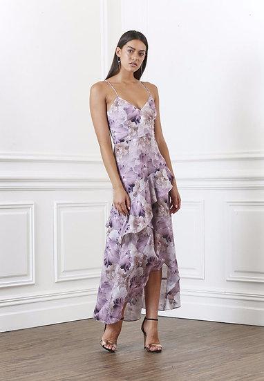 Shilla Lustre Floral Layered Dress