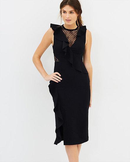 Rebecca Vallance Gabriella Spot Lace Midi Dress