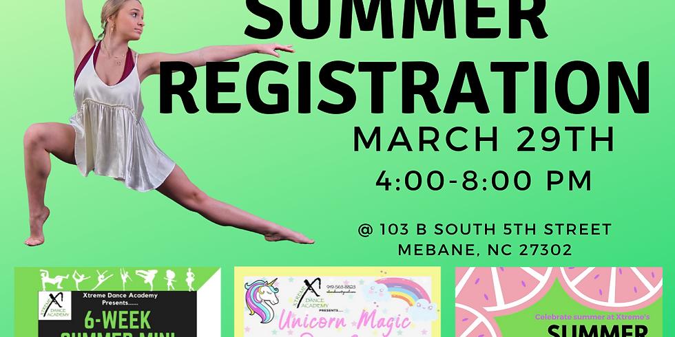 Summer Class Registration