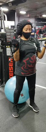 Stability Ball Squat to Overhead Press with Cable
