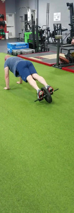 Locomotive Tall Plank Crawl with Roller