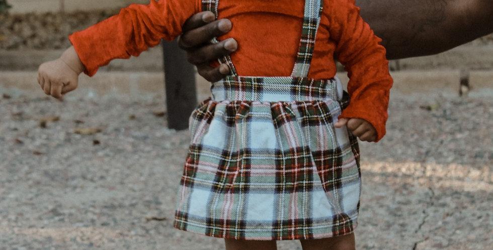Winter Plaid Suspender Skirt