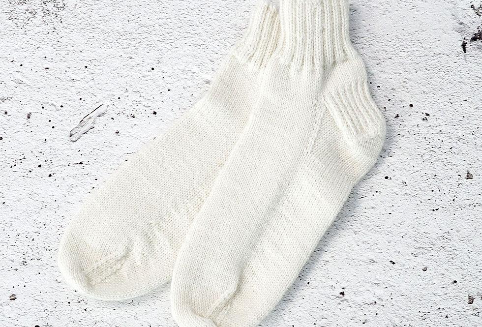 Bas courts tricotés par Mamie-Lou