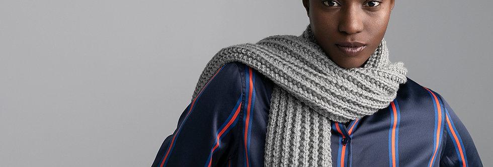 Foulard poisson tricoté par Carole