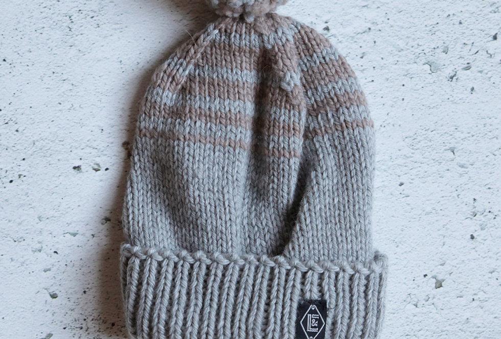 Tuque à revers tricotée par Diane