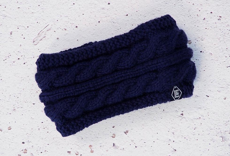 Bandeau à torsades tricoté par Mamie-Lou