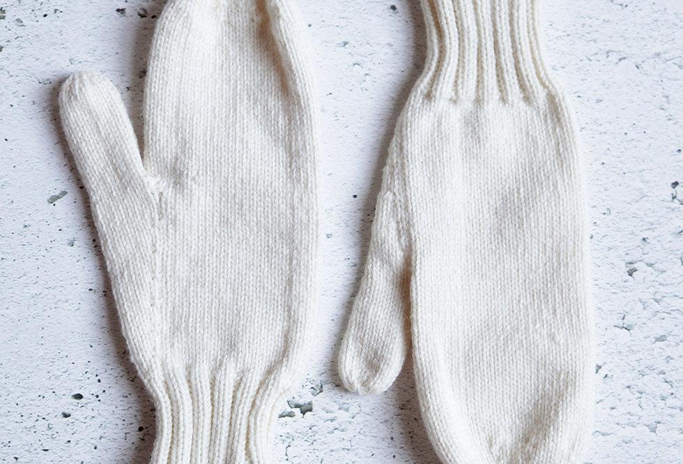 Mitaines simples tricotées par Denise