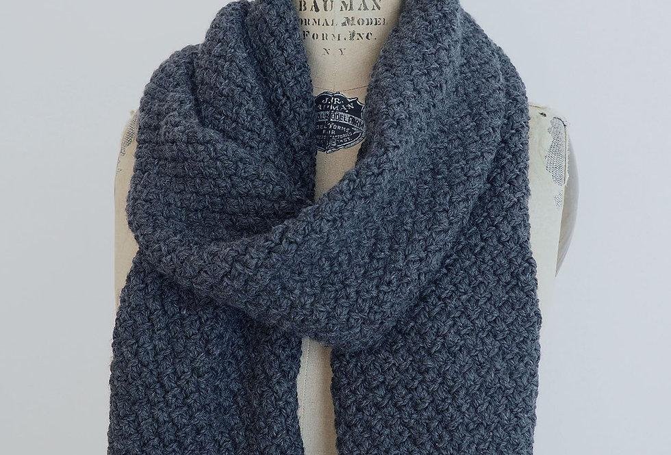 Foulard croisillons XXL tricoté par Nicole R.