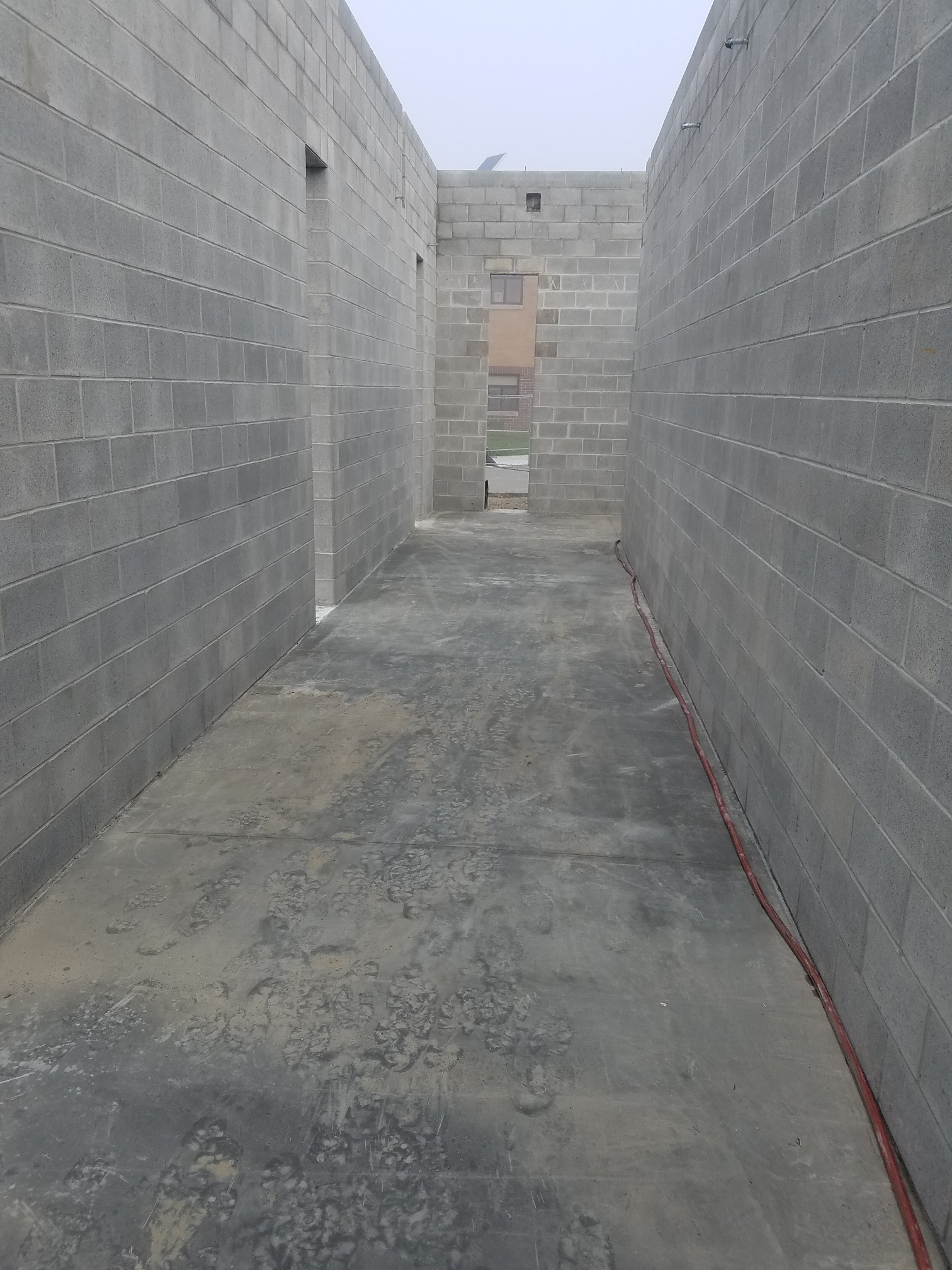 Hallway Concrete poured
