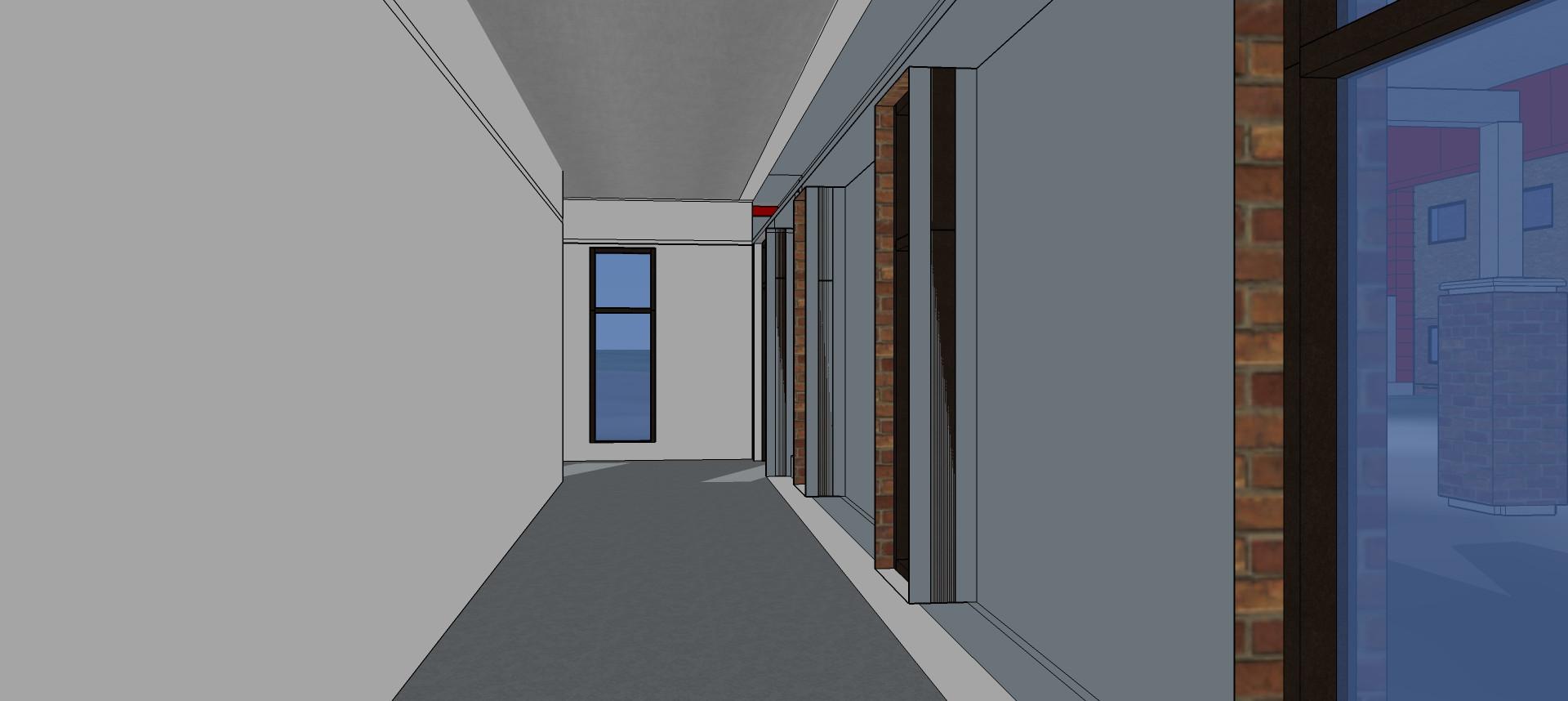 Hallway in Athletic Locker Rooms