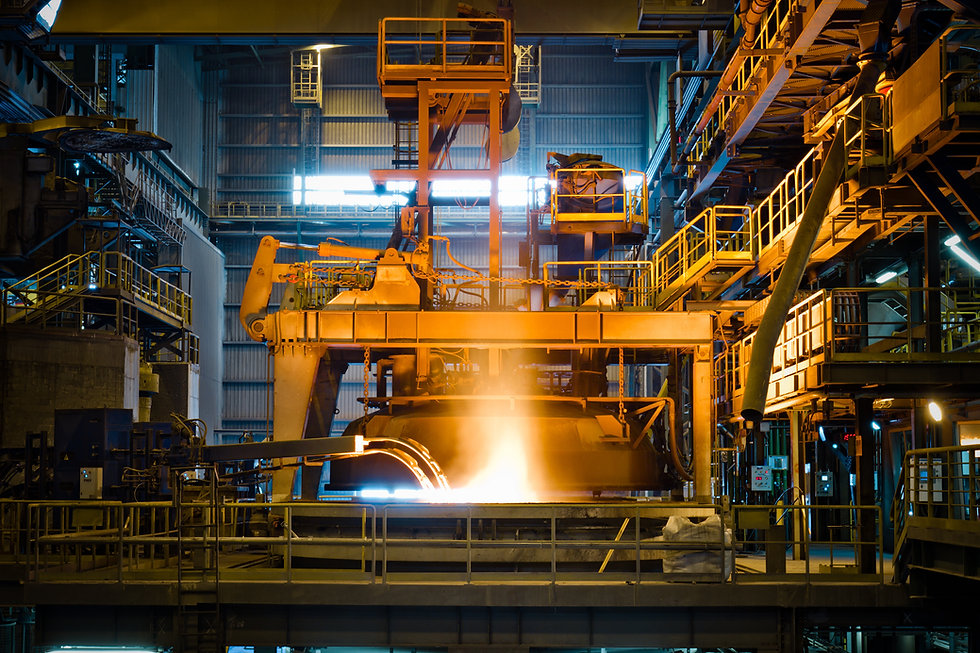 Steel production at the metallurgical pl