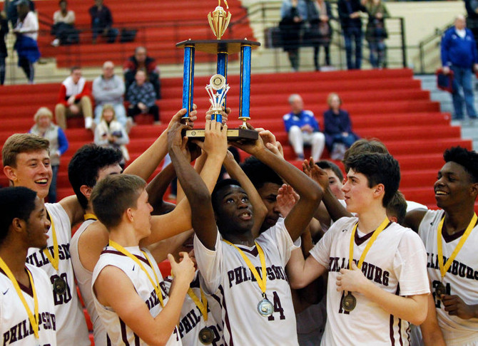 GONDA EARLY, MANIGAULT LATE: PHILLIPSBURG BOYS BASKETBALL RECLAIMS TROPHY