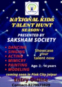 Kids Talent Hunt Saksham