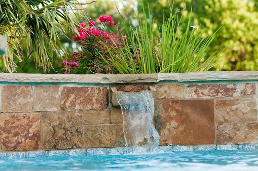 Stone Veneer in Pool