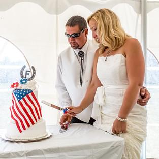 Farrar Wedding Cake Cutting