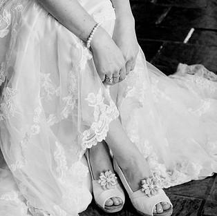 Bride Shoes & Dress