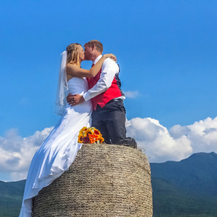 Kissing on Hay Bale