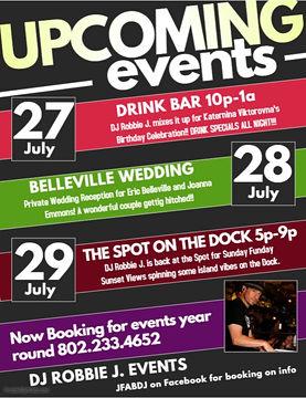July DJ Events