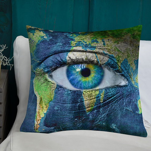 One World, One People Premium Pillow