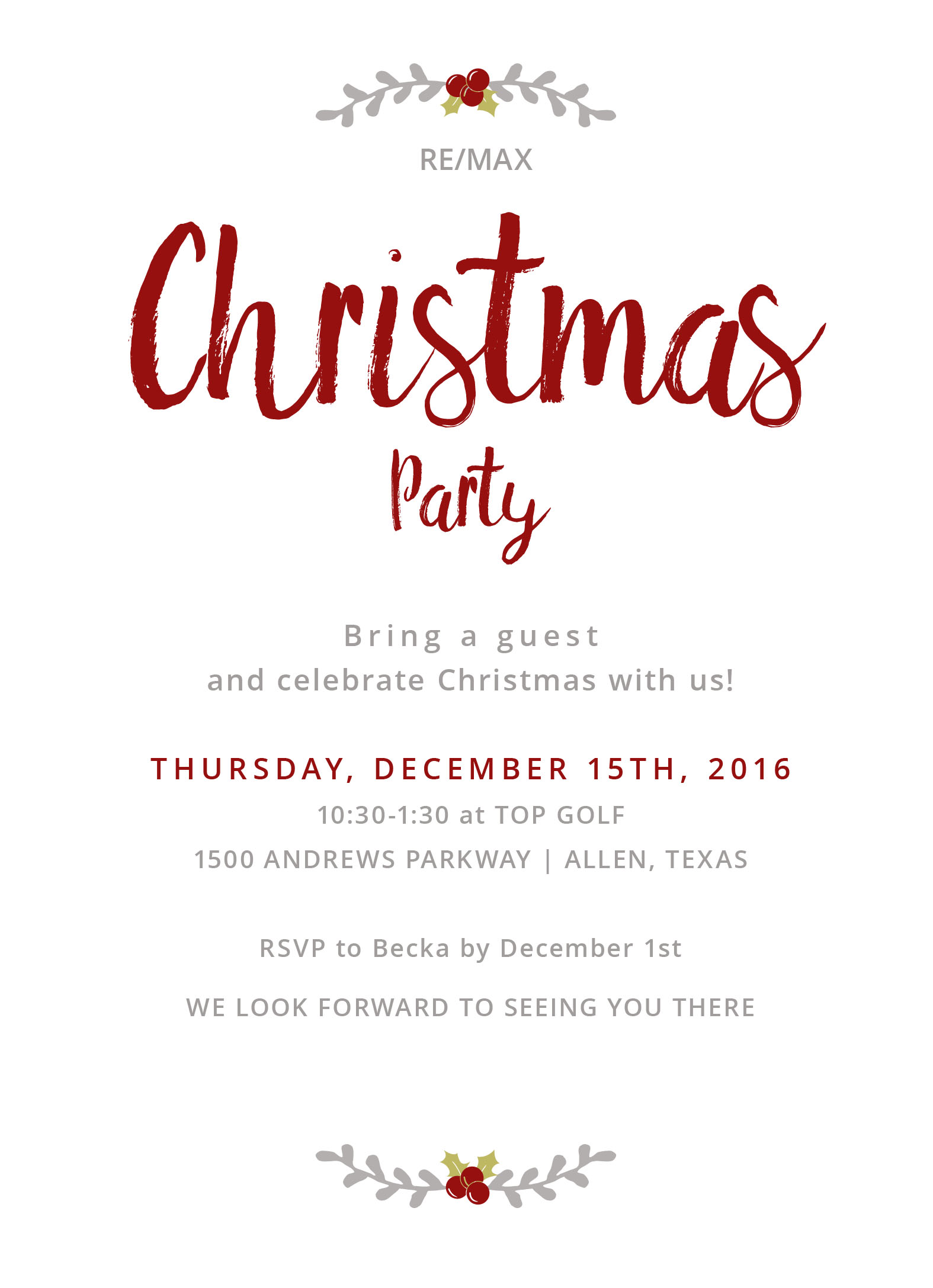 Remax Christmas Party 2020 You Are Invited! RE/MAX Signature Christmas Party