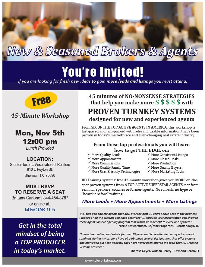 Proven Turnkey Marketing Systems - Free Workshop | REMAX