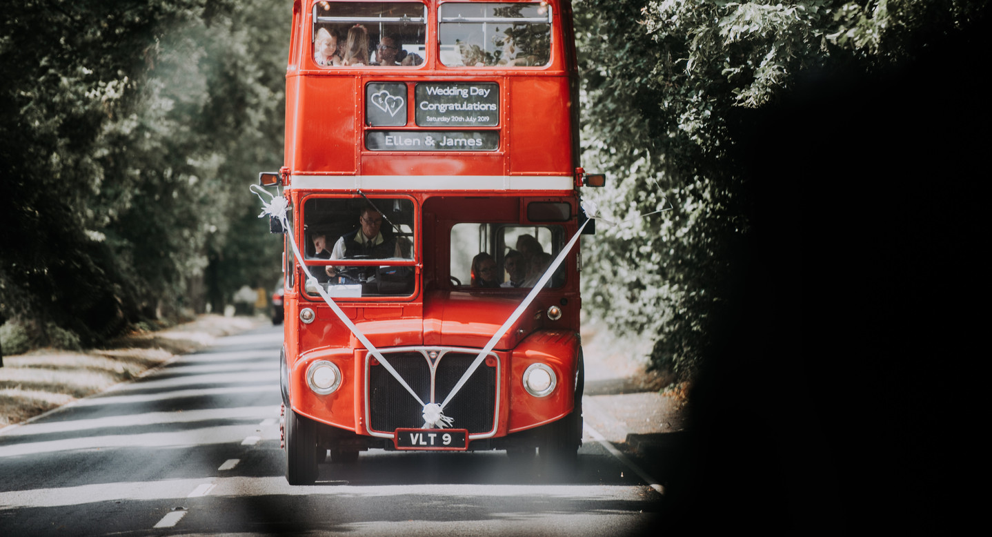 Wedding double decker bus
