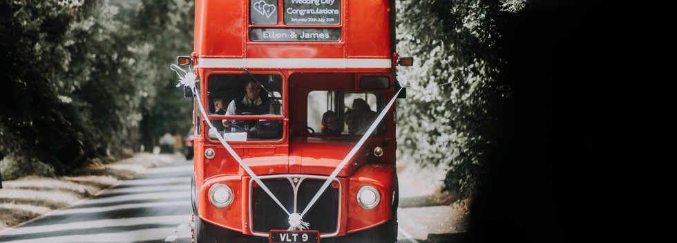 Wedding double decker bus