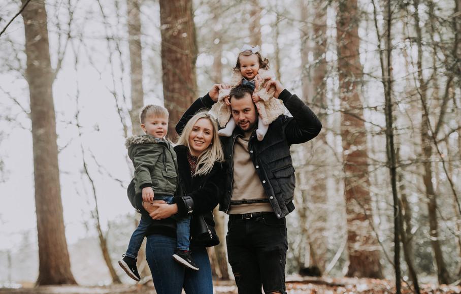 Woodland Family Photo Lake District