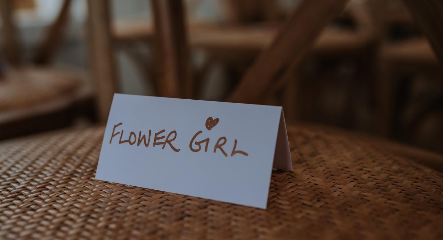 wedding flower girl seat