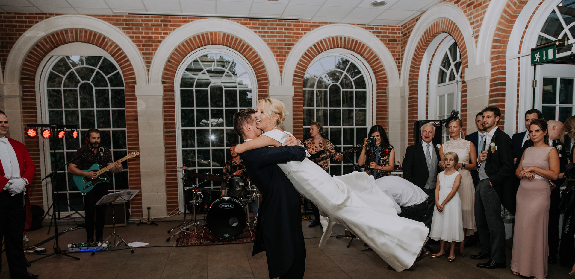 bride and groom first dance at great fosters