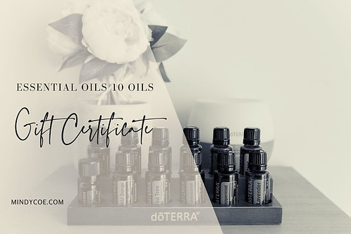 doTERRA Essential Oils and Diffuser Gift Certificate