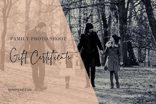 £100 towards a Family Shoot Gift Certificate
