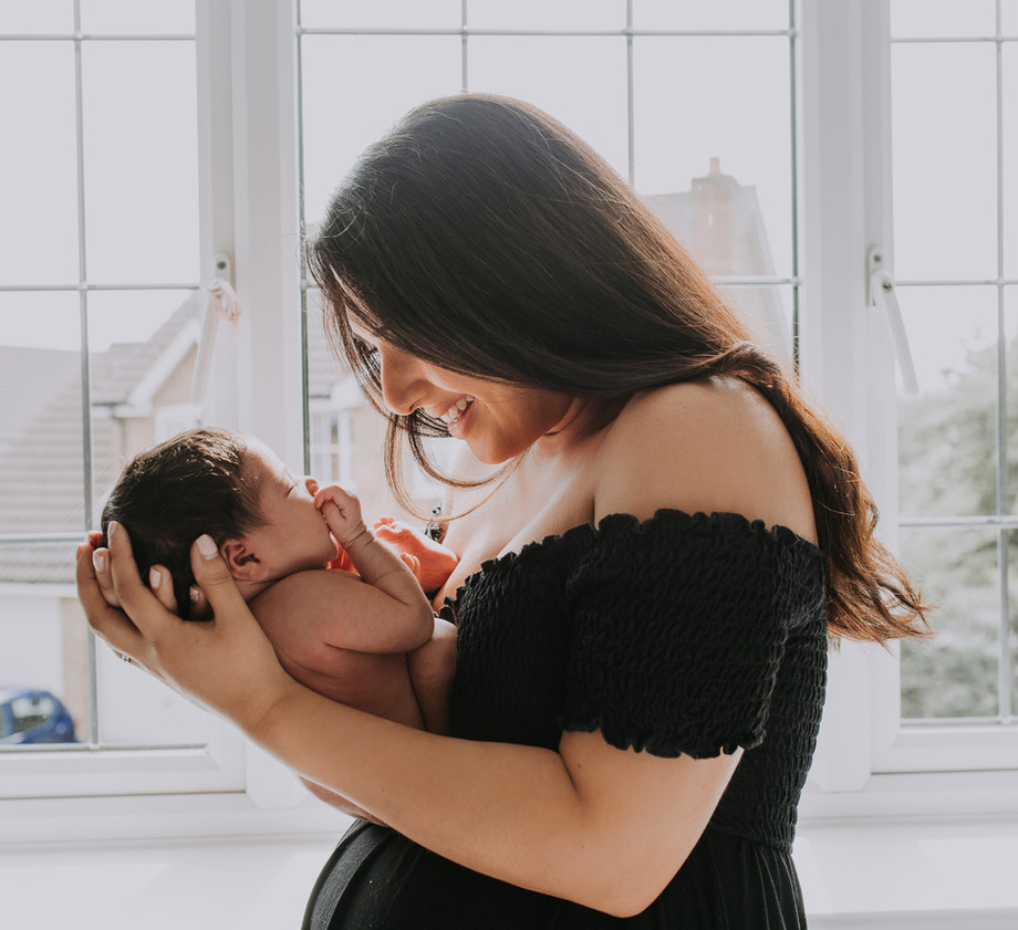Newborn Baby with Mum Home Photoshoot