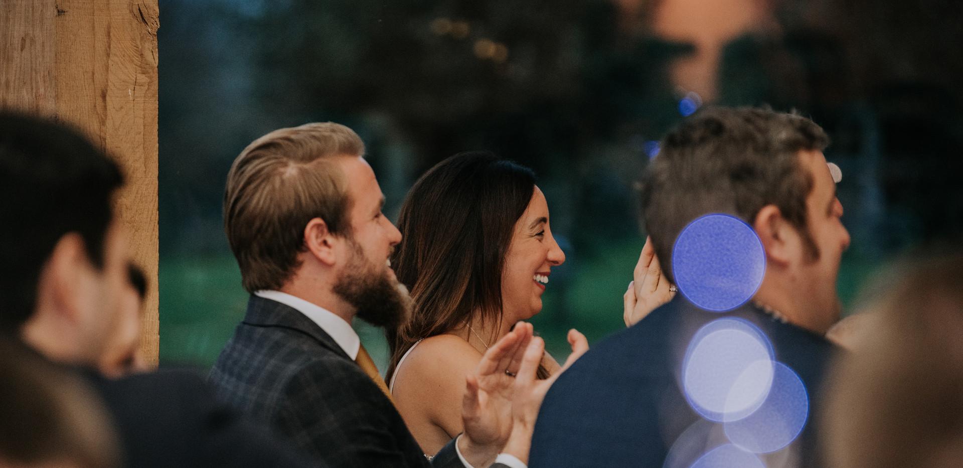 wedding guests bokeh