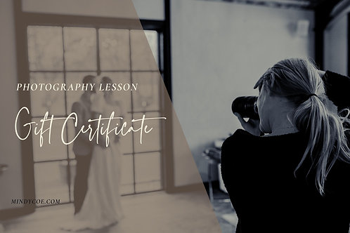 Photography Lesson Gift Certificate