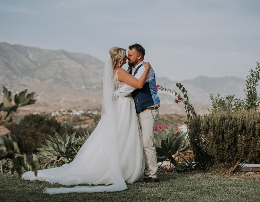 Bride and Groom in the mountains in Spain