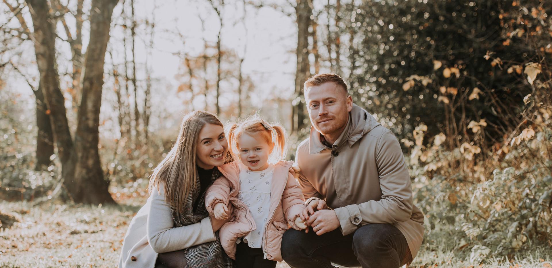 Family photo shoot in Cumrbia