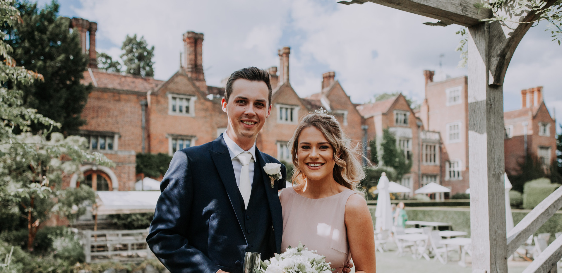 Wedding guests at great fosters