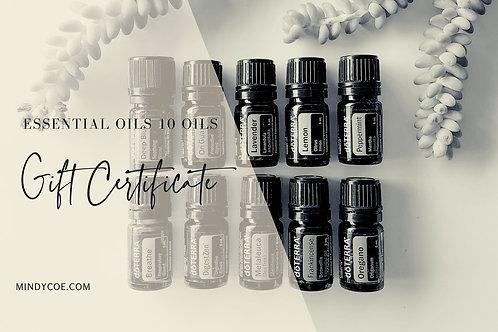 10 x doTERRA Essential Oils Gift Certificate