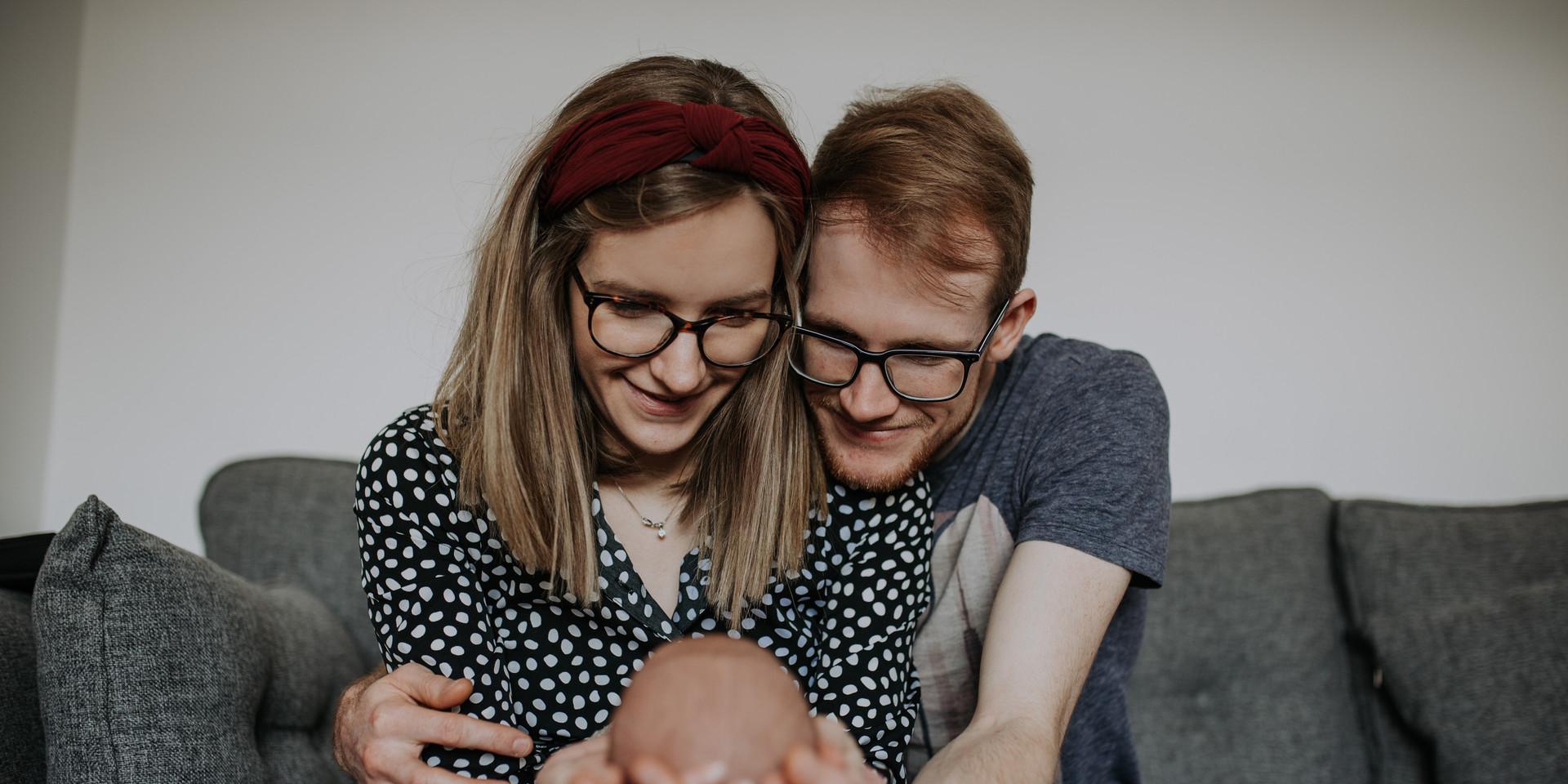 Newborn Baby Home Photoshoot expression