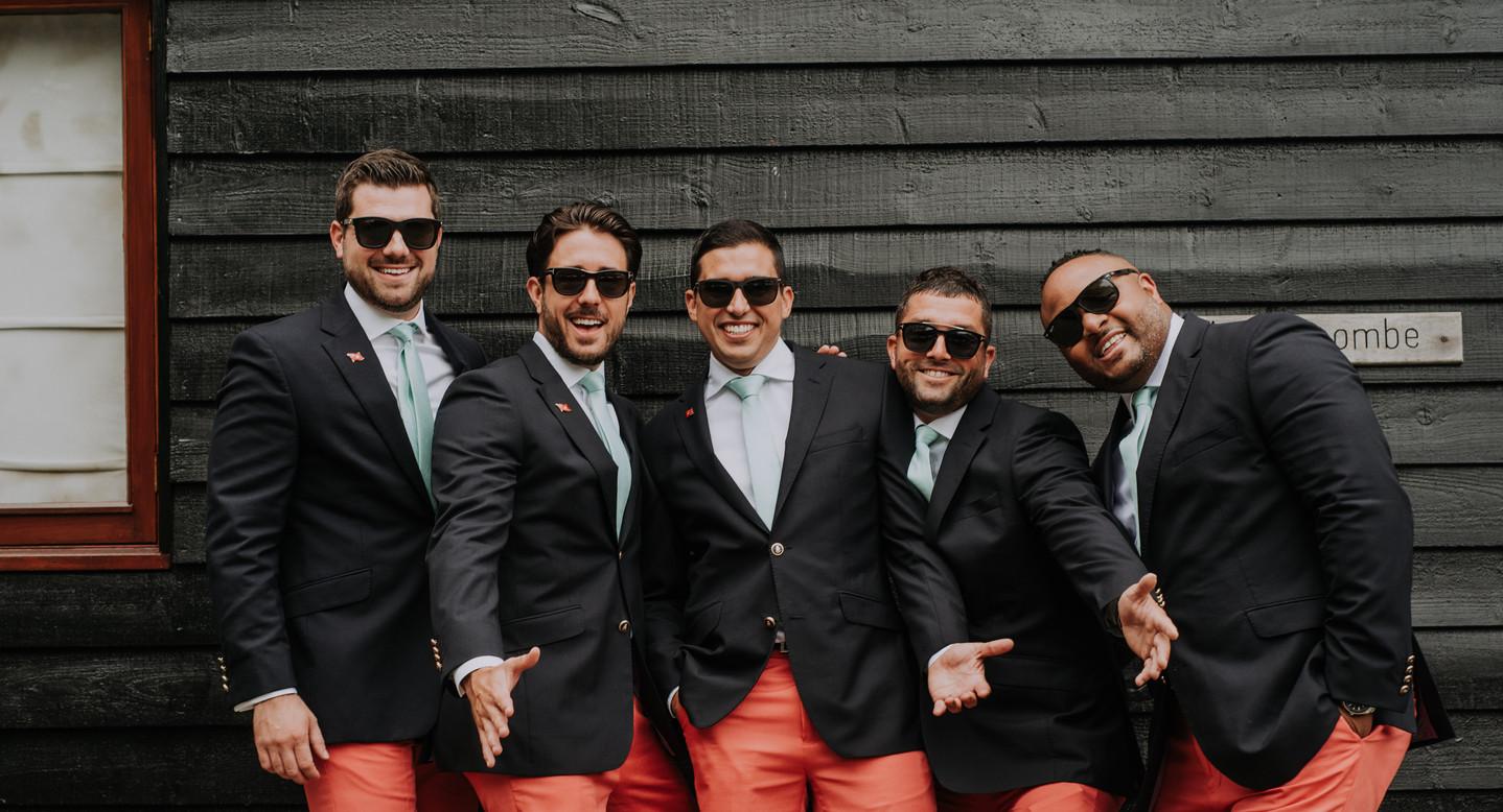 groomsmen pink shorts