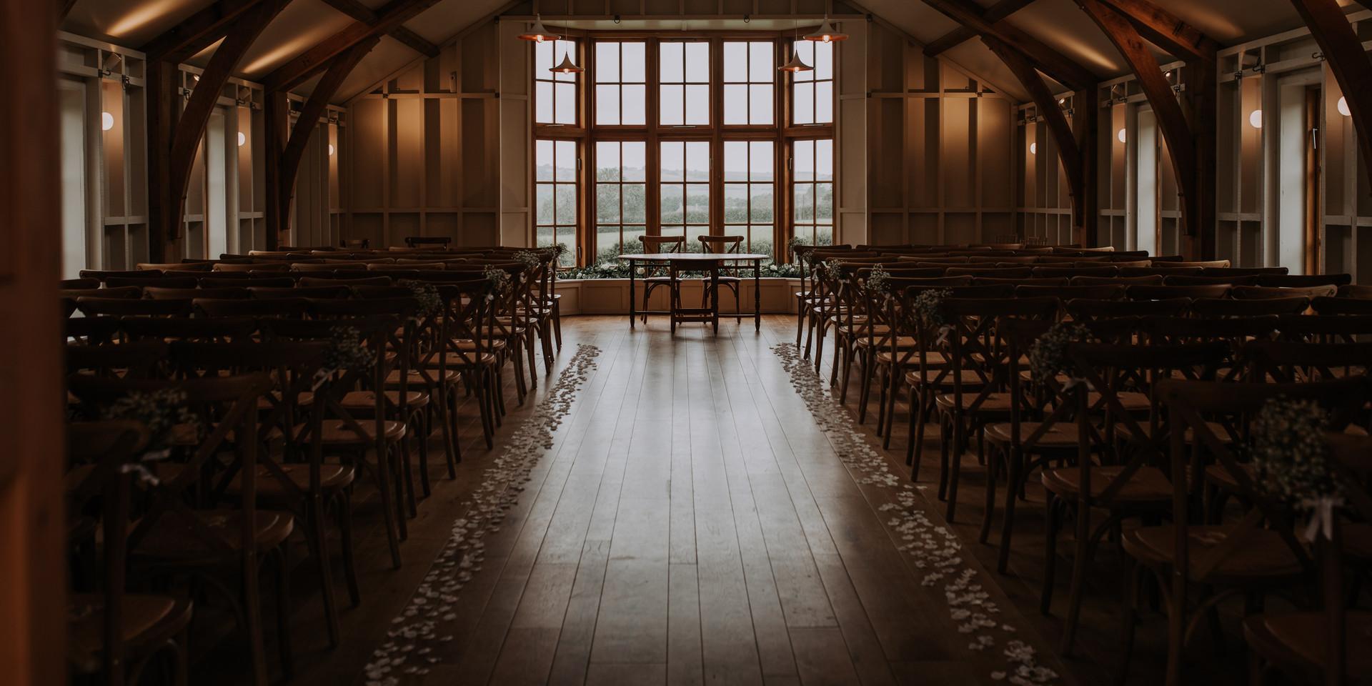 Barn Wedding ceremony room