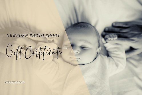 £50 towards a Newborn Shoot Gift Certificate
