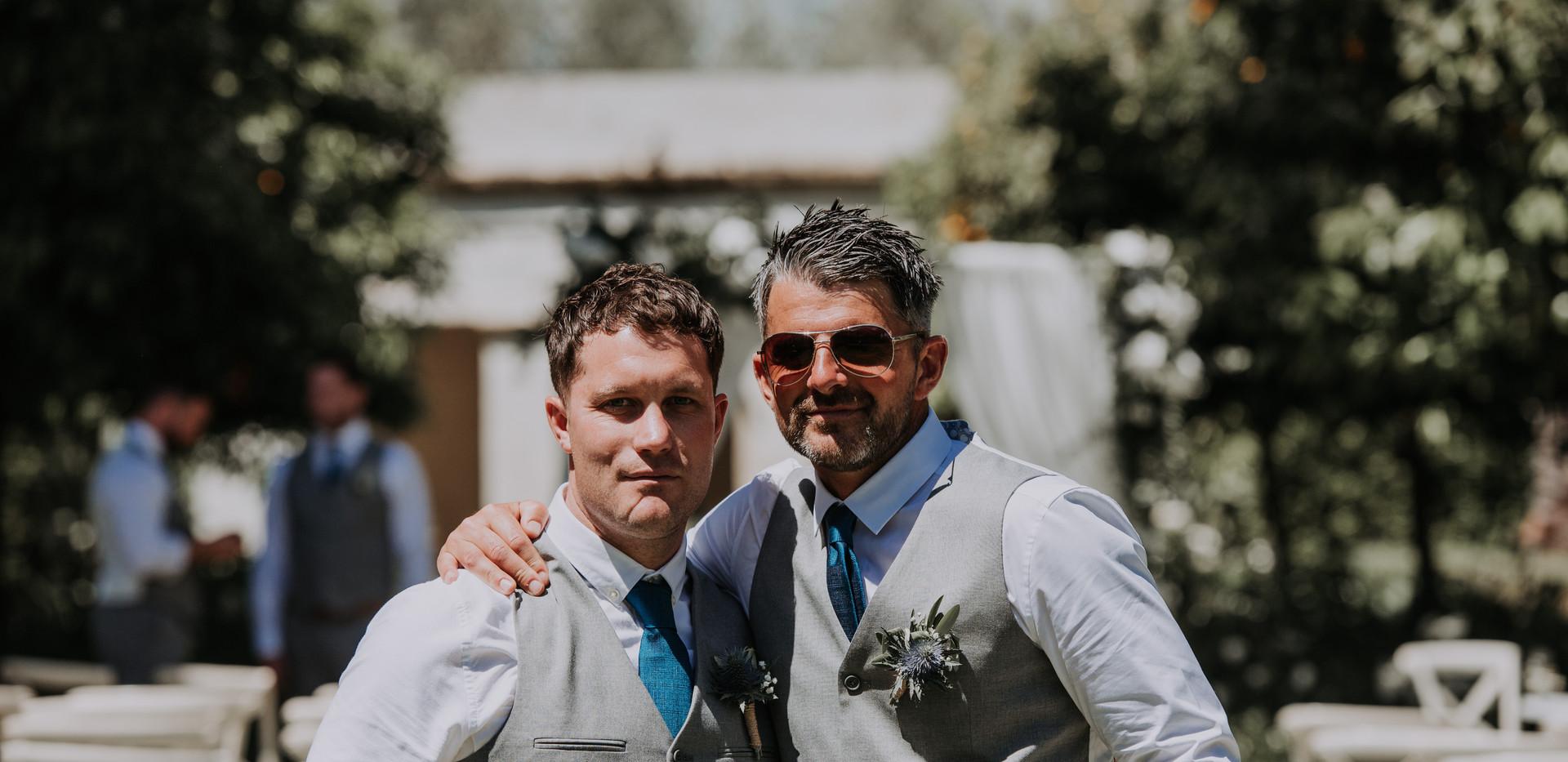 groomsmen at destination wedding