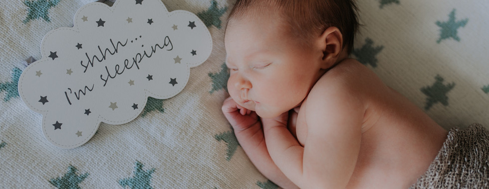 Newborn Baby Home Photoshoot Sleeping