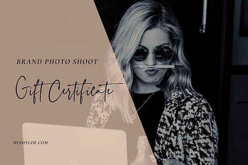 £100 towards a Brand Photo Shoot Gift Certificate
