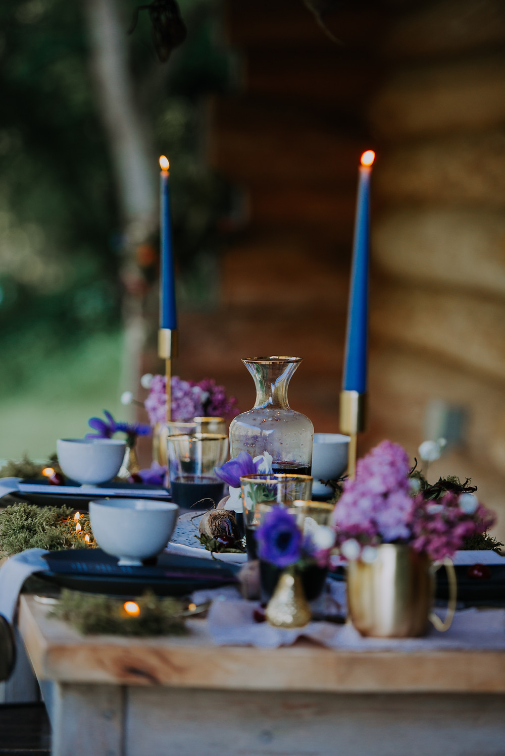 Eco Elopement Table set up in the Lake District