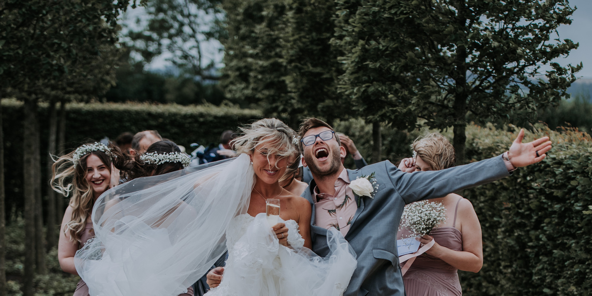 Windy Wedding in the Cotswold